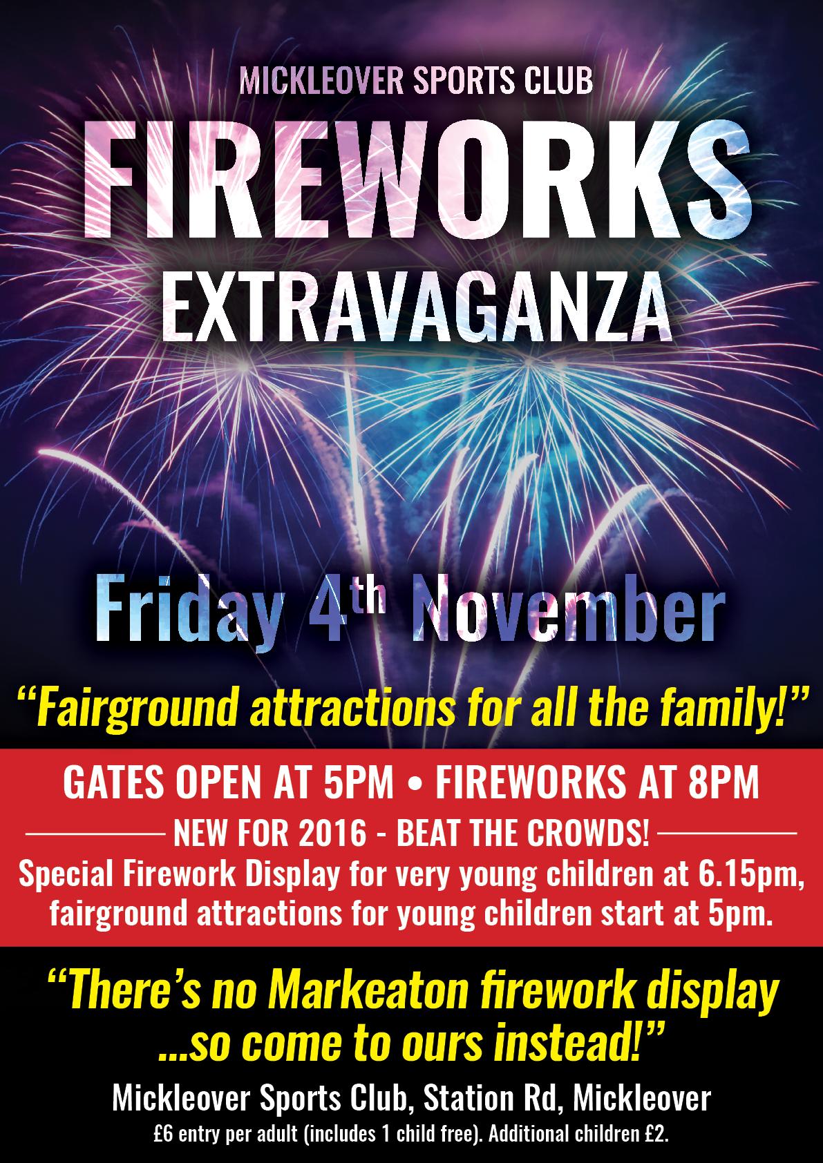 fireworks night at mickleover sports mickleover sports football club