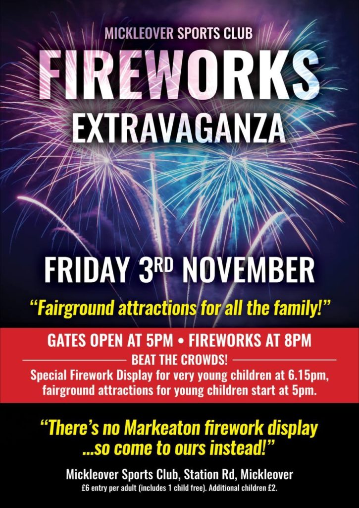 fireworks extravaganza buy tickets now mickleover sports