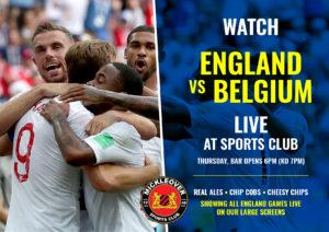 MSC England V Belgium Live